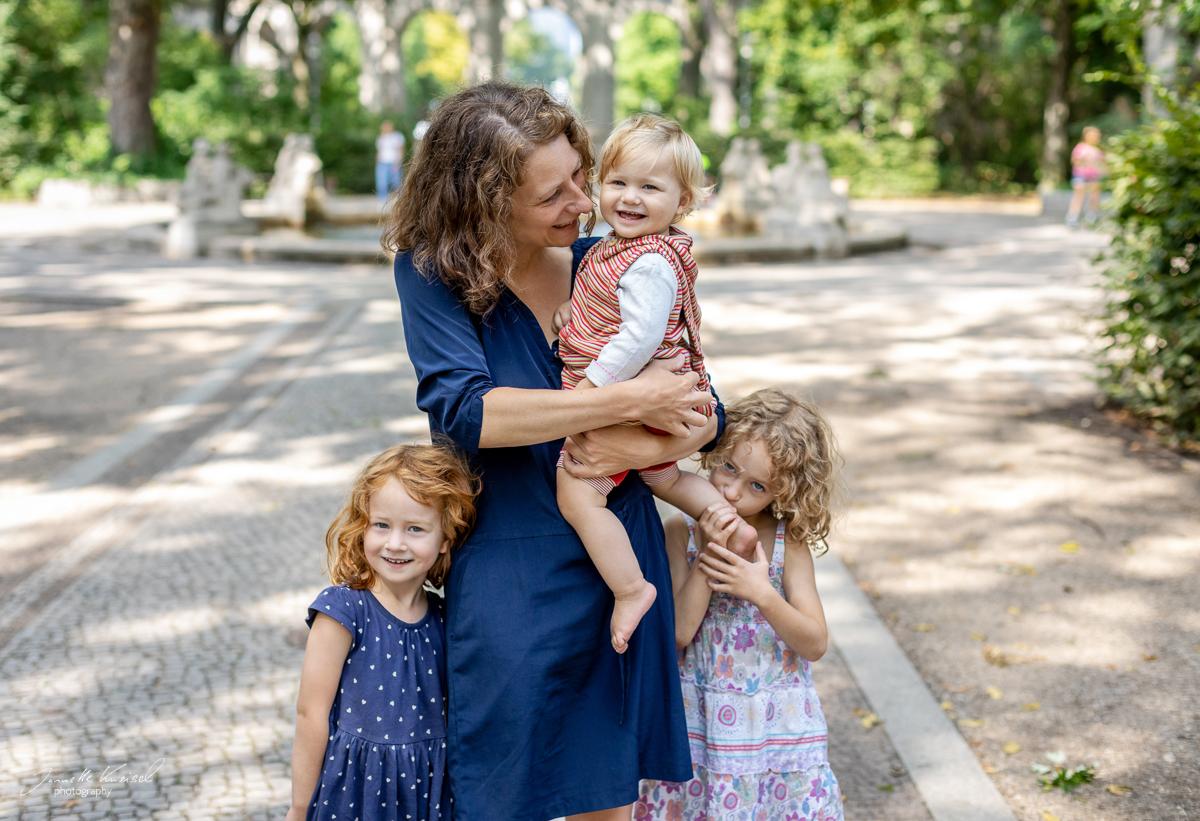 Familienshooting mit drei Mädchen