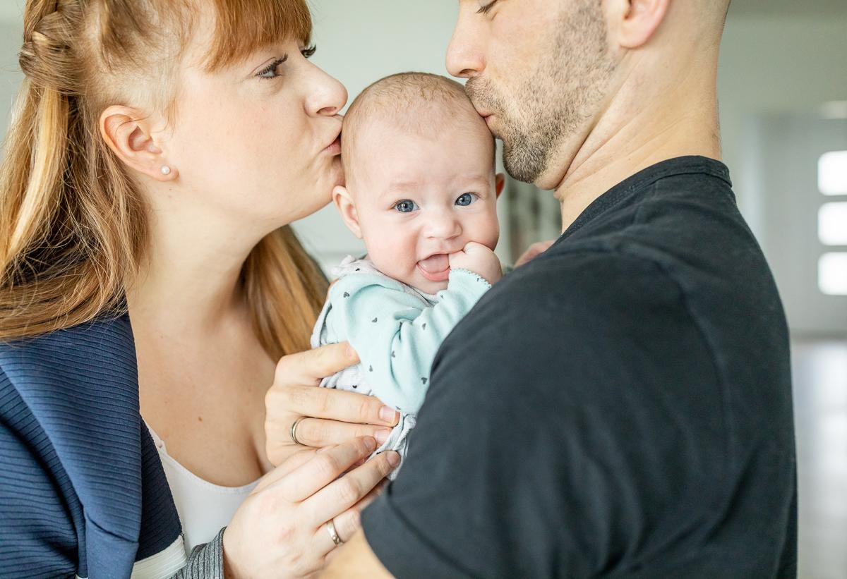 Familienfotos mit Baby