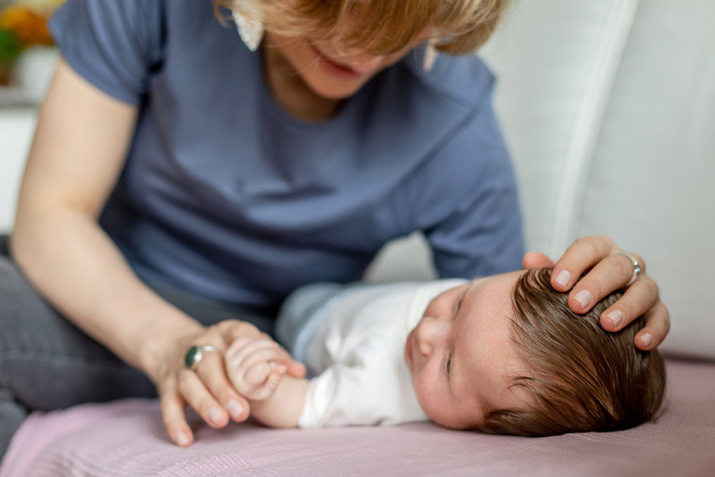 Babyfotos im ersten Jahr, Mama und Baby im ersten Jahr