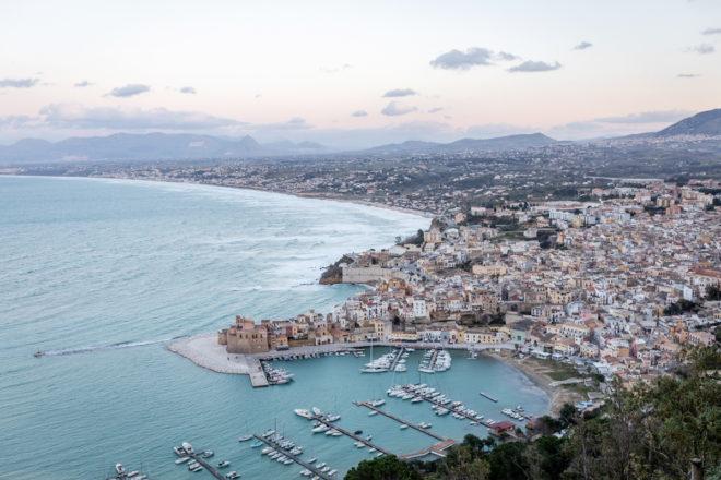 Wandbild Sizilien Hafen Panorama Fine Art Poster