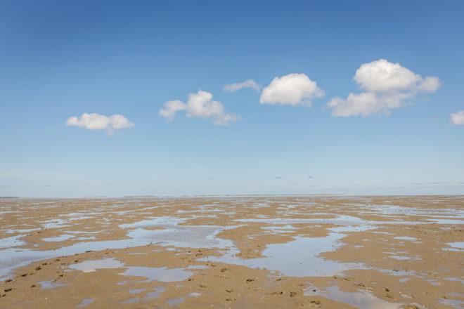 Wandbild Nordsee Watt Wolken Fine Art Poster
