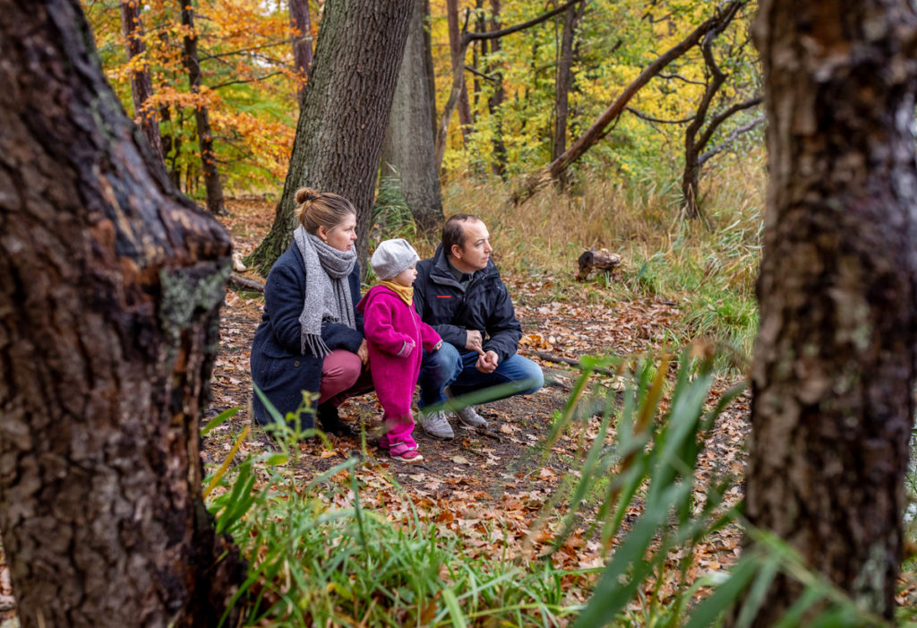 Outdoor Fotoshooting Berlin im Herbst mit der Familie, Fotoshooting Herbst
